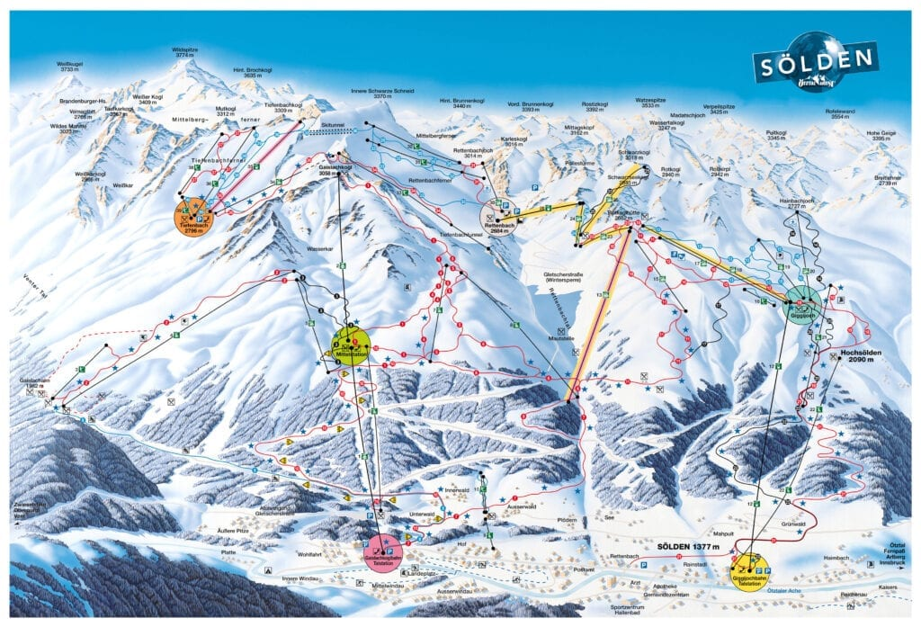 Solden ski map all extreme
