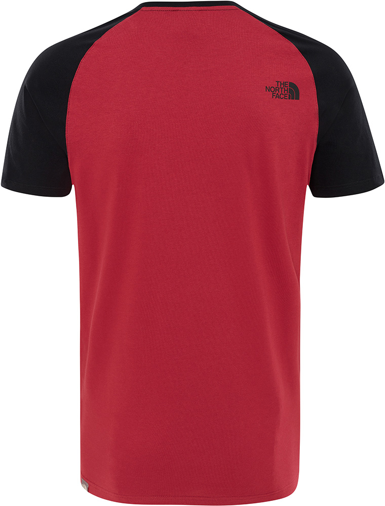 the north face t shirt red