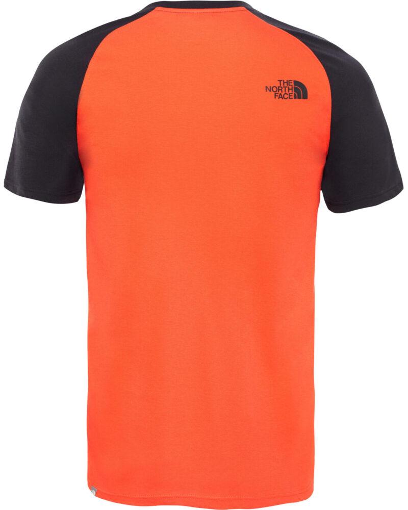 the north face t shirt orange