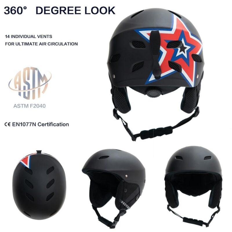VECTOR Star - CE Certified Snowboard Helmet