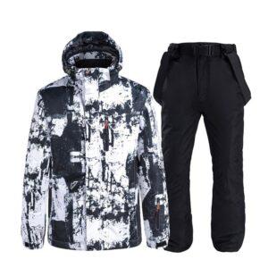 Man Women Snowsuit Windproof Waterproof Lightweight Warm Couple S/M/L/XL/XXL Ski Jacket Pants Skiing Suit