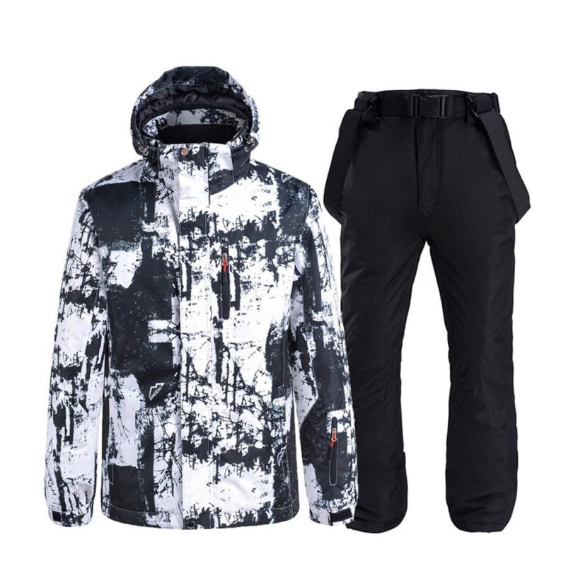 Man Women Snowsuit Windproof Waterproof Lightweight Warm Couple S/M/L/XL/XXL Ski Jacket Pants Skiing Suit