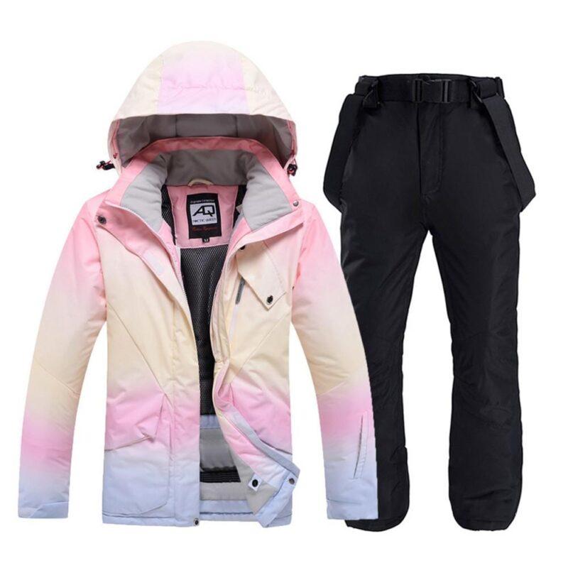 Women Double-layered Snowboard & Ski Suit