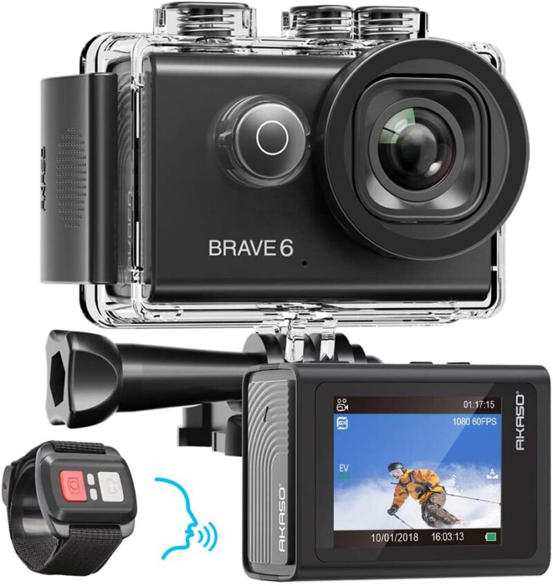 Brave 6 - 4K 20MP WiFi Action Camera with Voice Control