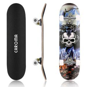 Dual Dragon Kick Maple ABEC-7 Bearings 4 Wheel Skateboard