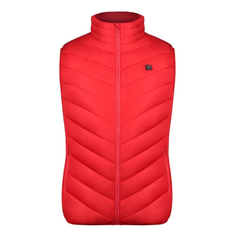 Winter Outdoor Men Electric Heated Vest USB Heating Vest Winter Thermal Cloth Feather Camping Hiking Warm Hunting Jacket