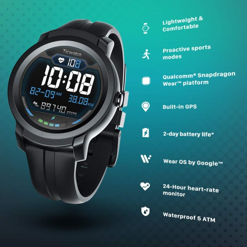 TicWatch E2 Wear OS by Google Smart Watch