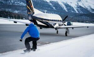 Jamie Barrow Fastest Snowboarder Plane