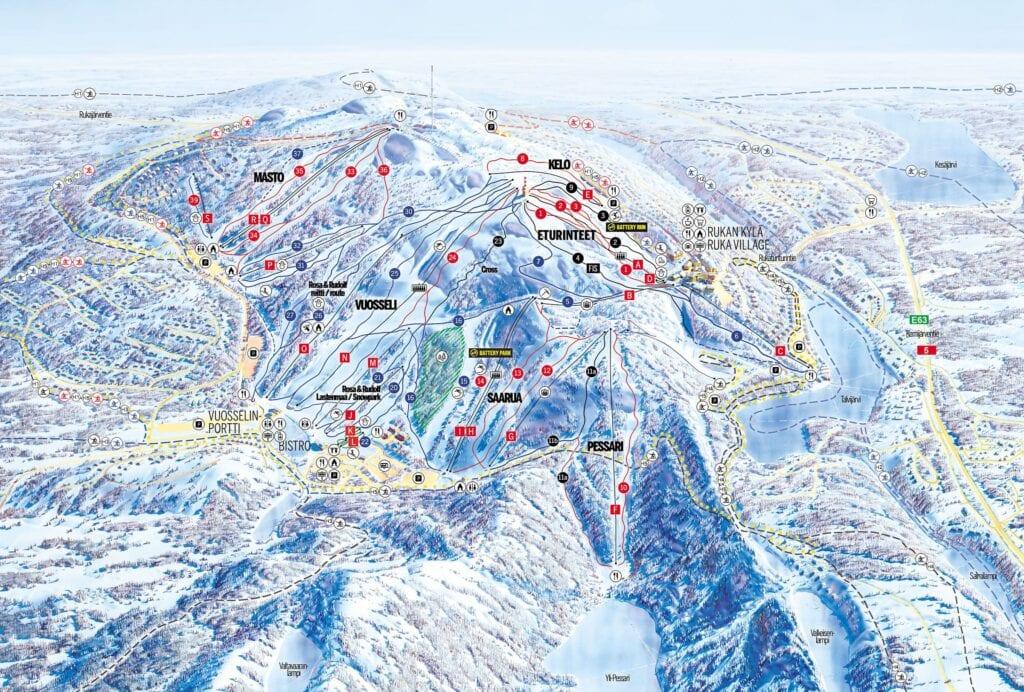 Ruka Ski Trail Map