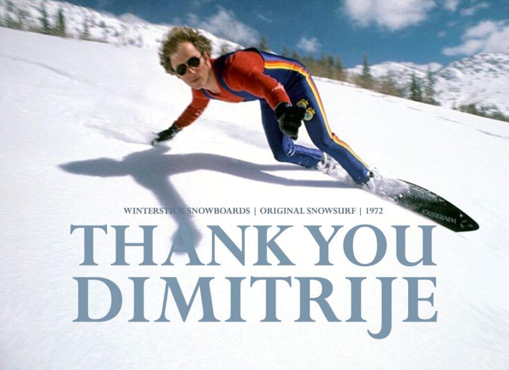 Dimitrije Milovich snowboard