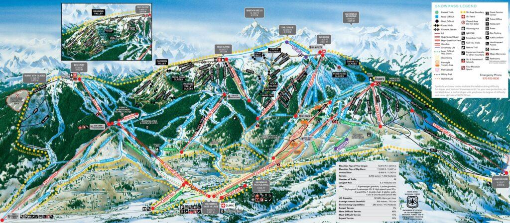 aspen snowmass map