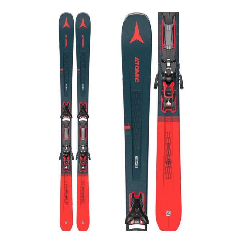 atomic vintage red ski