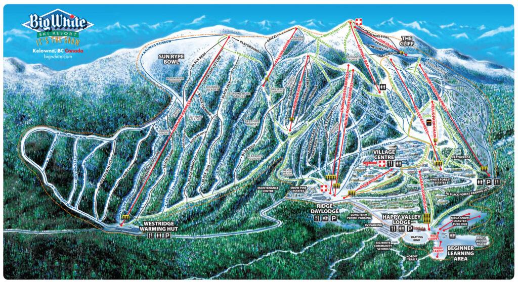 big white ski resort map