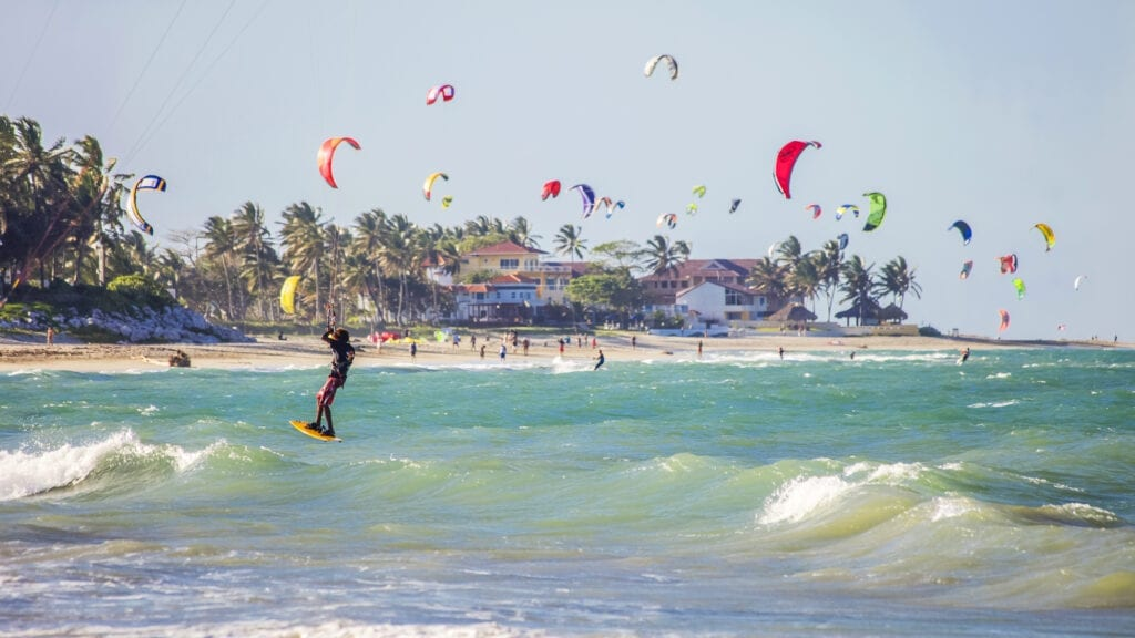 cabarete kiteboard at the beach