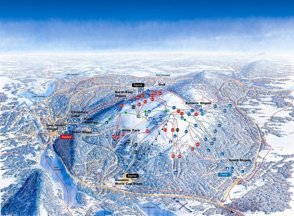 levi ski map