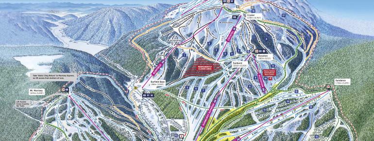 ski resort sun peaks resort map