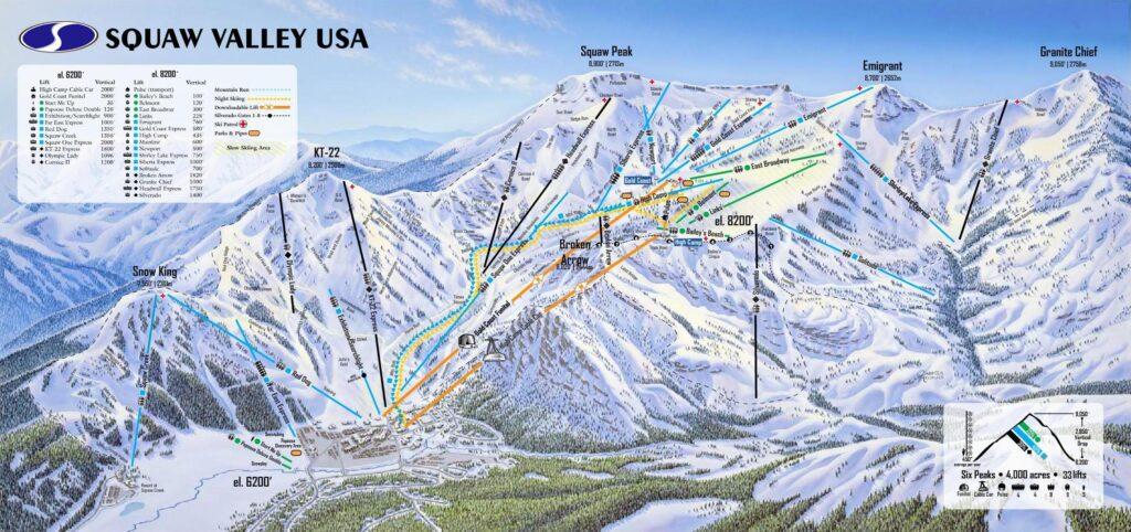 squaw valley ski resort map
