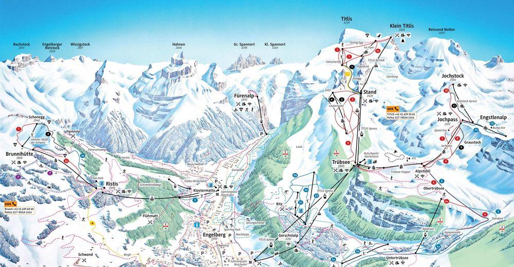ski map Engelberg Titlis