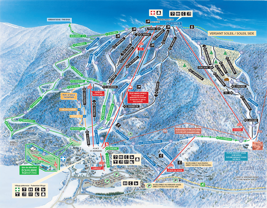 Mont treblant ski map