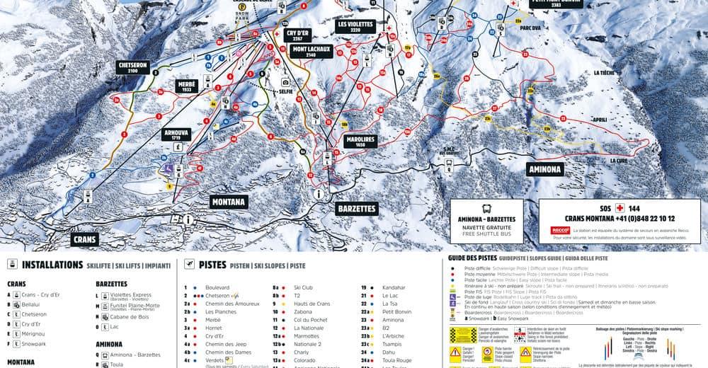 map ski resort crans montana