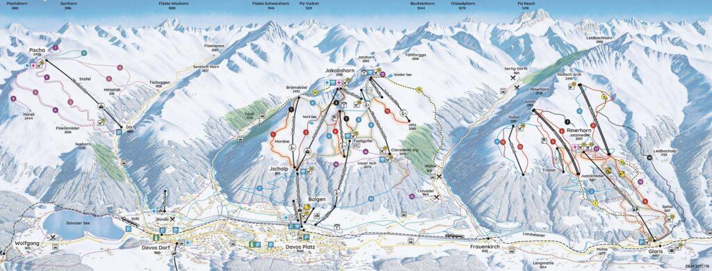 ski map davos klosters parsenn
