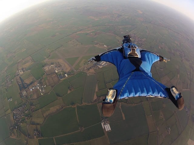 extreme wingsuit flying