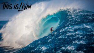 surfer wave hawaii oahu
