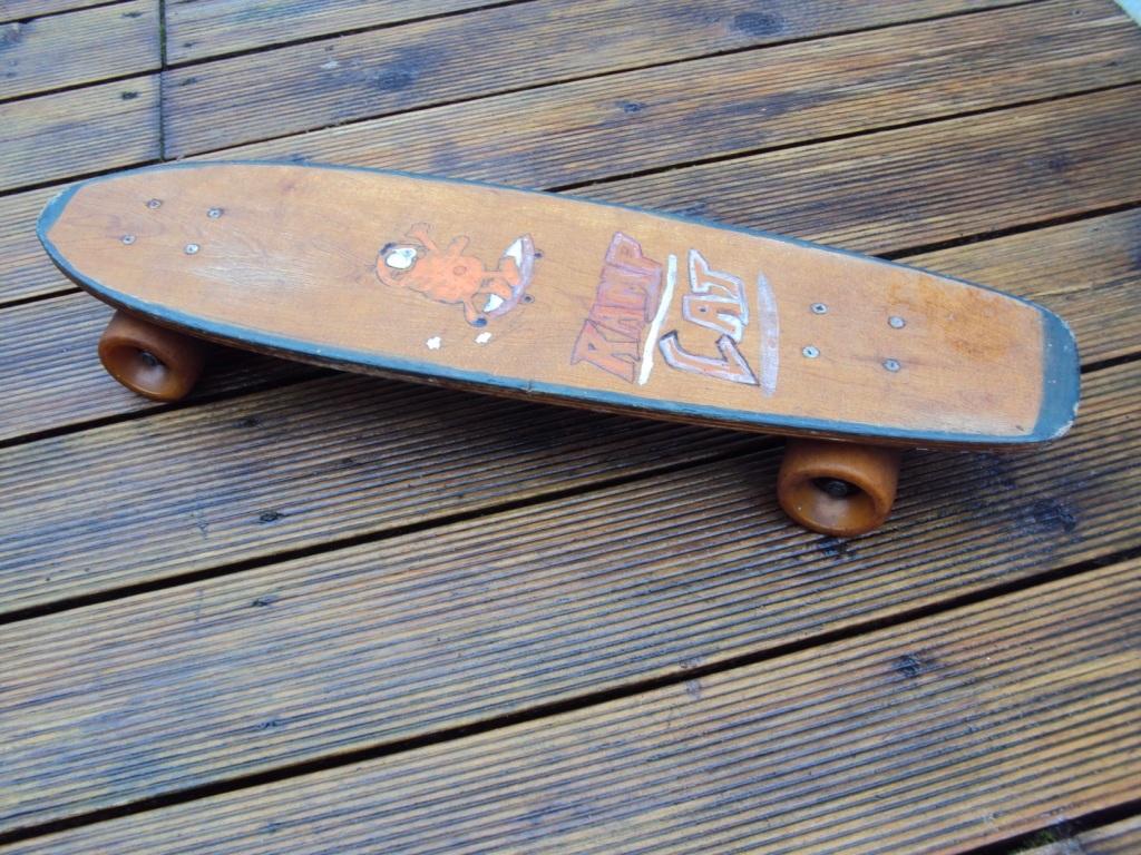 old wooden skateboard
