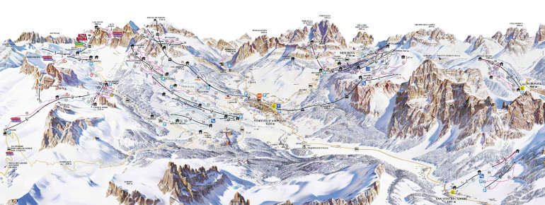 Cortina d'Ampezzo ski map