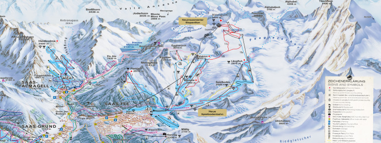 ski map saas fee